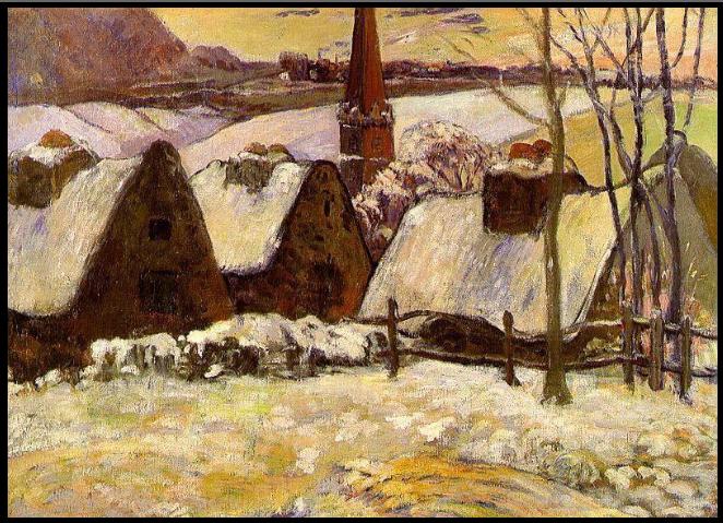 gauguin1-breton-village-in-the-snow1