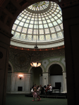 Chicago Cultural Center-rehearsing under the dome