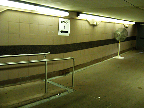 Underground-the ramp to track 1