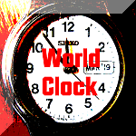 clock world orange3 150 button