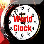 clock world orange3 150 button