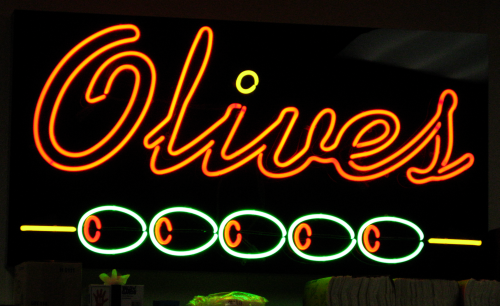 olive neon sign
