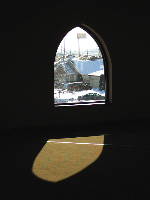 sacred space-mosque window in january