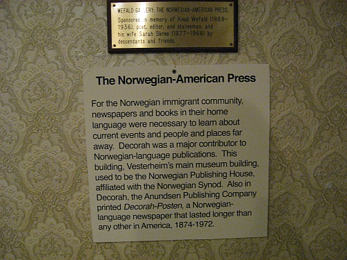 1 Norwegian Press sign