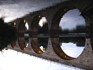 stone bridge upside down