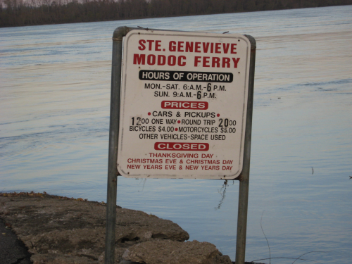 ferry sign
