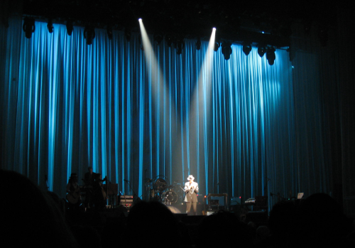 Leonard Cohen on stage